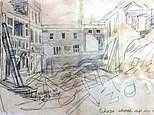 Sketches of the Blitz showing bombing of London during Second World War sell at auction for £3,000