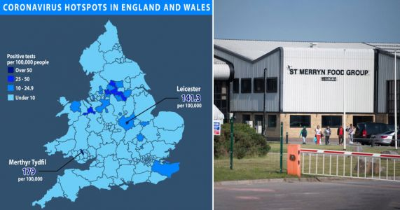 Merthyr Tydfil has infection rate almost 30% higher than Leicester
