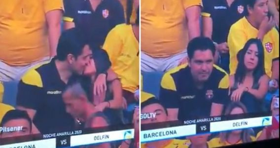 Man caught cheating on kiss cam and people can't get enough of the disaster moment
