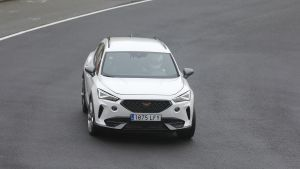 New five-cylinder Cupra Formentor SUV spotted at the Nurburgring