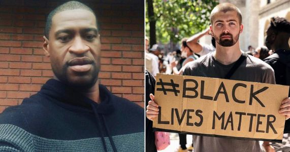 Gogglebox star Tom Malone Jr pays moving tribute to George Floyd at Black Lives Matter protest