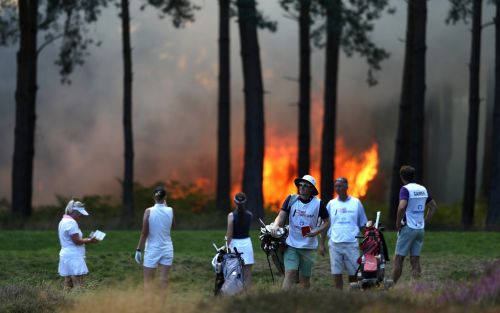 Final round of Rose Ladies Series Grande Finale suspended after wildfire at Wentworth