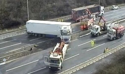 M6 traffic latest: M6 CLOSED both directions after lorry crash through central reservation