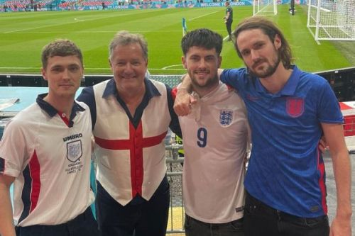 Piers Morgan moans he can't taste wine after catching Covid at Wembley