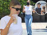 Sofia Richie hangs with a pal.after reuniting with Scott Disick for the first time since break-up