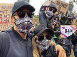 Kate Ferdinand shares impassioned post as she attends the BLM protest with husband Rio and his kids