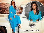 Eva Longoria turns heads in billowy blue dress with midriff cutouts at Casa Del Sol Tequila event