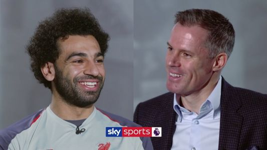 """""""I don't like to call myself a No.9"""" - Watch Jamie Carragher's interview with Mohamed Salah"""
