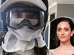 Emmy Rossum encourages fans to wear masks after an early 2020 selfie in full gear resurfaces