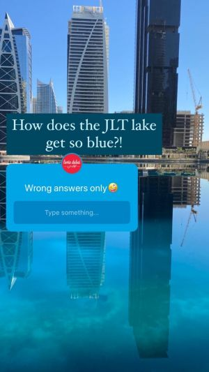 From A Smurf Domination To Gatorade - Here Are Some Of The Funniest Responses To 'What Makes The JLT Lake So Blue!