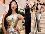 Nicole Scherzinger leads the glamour with Heidi Klum at amfAR Gala in Hong Kong