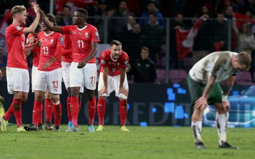 Seamus Coleman sent off as Ireland are rolled over by Swiss in Euro qualifier