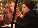 Mary-Kate Olsen, 34, enjoys an al fresco dinner with twin Ashley amid Olivier Sarkozy court battle