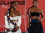 Olympic gymnast Simone Biles stuns in red, white, and blue on the cover of Glamour