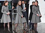 Kate Middleton wears Catherine Walker coat on Holocaust Day in London