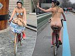 Woman cycles around London naked to raise money for Mind charity after losing cousin to suicide