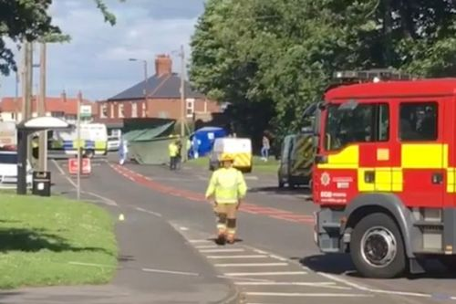 Woman dies after car explodes into flames in 'tragic accident' in high street