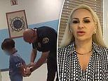 Mother of boy, 8, seen being HANDCUFFED at his elementary school files civil rights suit