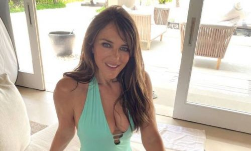Elizabeth Hurley and sister stun in matching bikinis - and fans go crazy