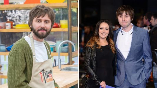 Who is The Inbetweeners' James Buckley married to and how many kids does he have ahead of Celebrity Bake Off appearance?
