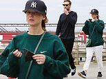 Jennifer Lawrence enjoys a powerwalk with husband Cooke Maroney in NYC