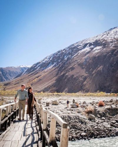 Kate Middleton and Prince William share stunning images of mountains in Northern Pakistan from day three of royal tour
