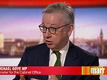 Michael Gove says face coverings WON'T be mandatory in shops in England