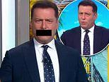 Karl Stefanovic shocks viewers by appearing to swear twice on live TV