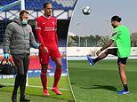 Liverpool's Virgil van Dijk seen kicking a ball for the first time since horror knee injury