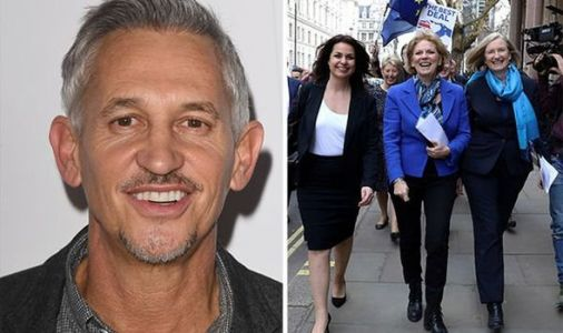 Remainer Gary Lineker supports Anna Soubry and Heidi Allen after quitting Tories