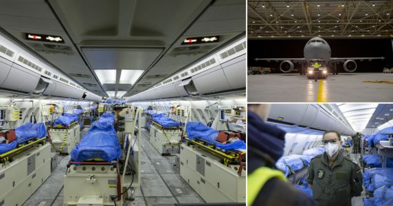 Military flies Italian and French patients to Germany for treatment