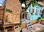 Savvy family-of-six create impressive 'Lockdown Lodge' for £250