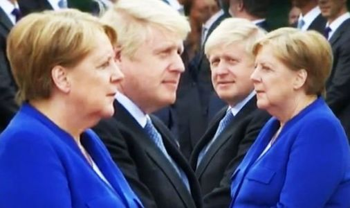 Boris Johnson and Merkel in frosty meeting - Chancellor sits in silence during welcome