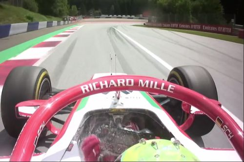 Mick Schumacher misses out on podium after fire extinguisher explodes in cockpit