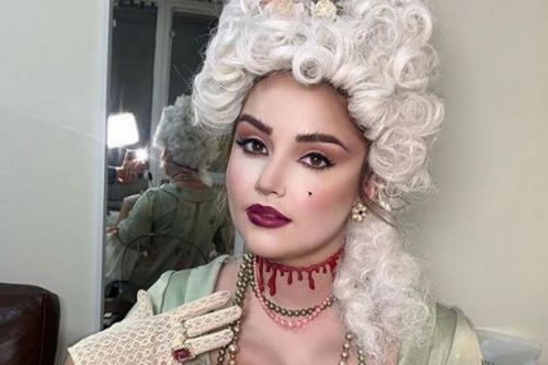 Jacqueline Jossa morphs into convincing Marie Antoinette with wig on Celeb Juice
