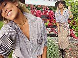 Phoebe Burgess shows fans how she fashionablyadds layers in the winter