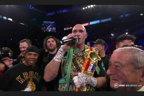 Tyson Fury serenades his fans with American Pie song after Deontay Wilder win
