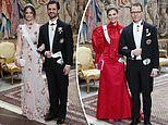Swedish Royals don stunning tiaras as they host this year's Nobel prize