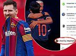 Barcelona stars stay silent over Lionel Messi departure as Neymar fuels talk over PSG move