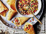 Curry without the calories! Stuffed papad cones