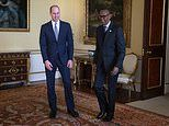 Prince William meets President of Ghana at Buckingham Palace while Harry stays away
