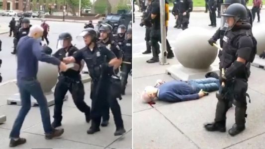 Suspended Buffalo police officers who shoved elderly protester expected to be charged today