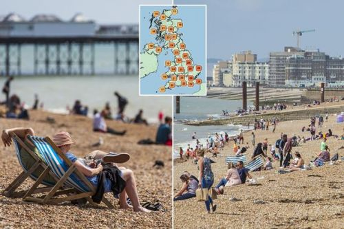UK weather: Bank holiday to hit 33C but here's how hot it will get in your area