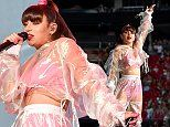 Charli XCX looks ever the pop sensation in sheer co-ords and vibrant pink lingerie in Atlanta