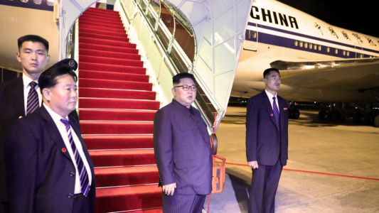 What is Kim Jong Un doing in China?