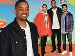 Will Smith unites with Aladdin co-stars Naomi Scott and Mena Massoud at Kids Choice Awards in LA