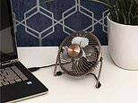 Amazon is selling a £9 stylish desk fan that's giving us luxe vibes for less