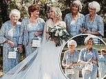 Bride asks her four grandmas to be the flower girls at her wedding