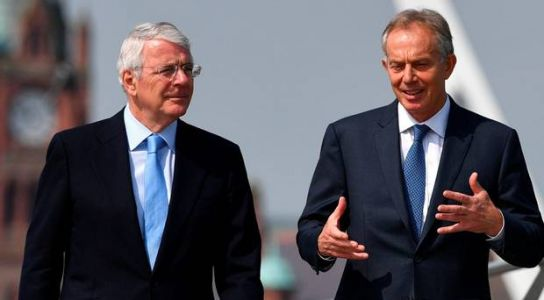 Tony Blair and John Major warn Boris Johnson's Brexit deal is threat to peace in Northern Ireland