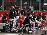 Seven Formula One drivers stand at 70th Anniversary Grand Prix while others 'take the knee'